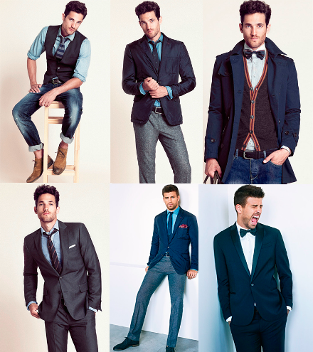 combine shirts and suits with ties