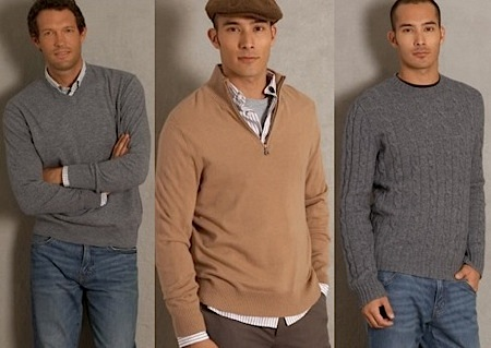 round or v neck sweater