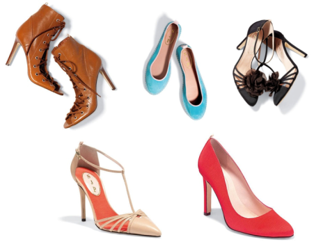 different styles of shoes