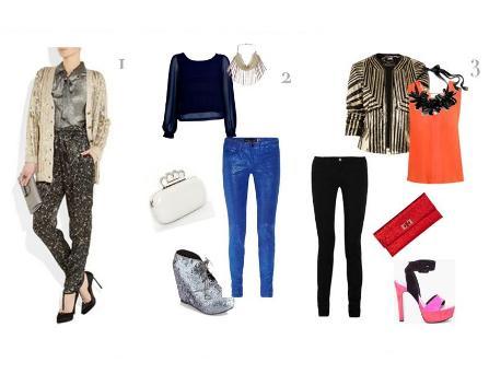 garments in metallic colors