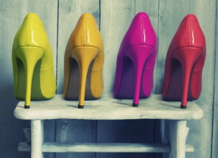 colorful heels