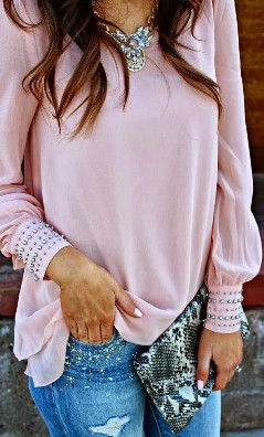 pale pink with style