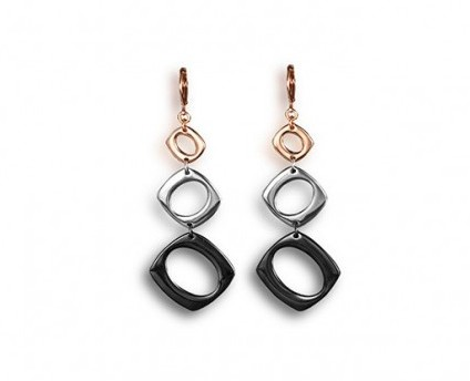 metalic blizz earrings