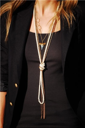 long knotted pearl necklace