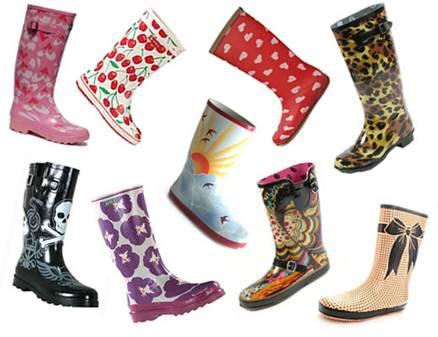 using rain boots