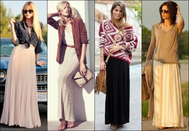 wear long skirt