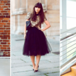 5 party looks with a black skirt