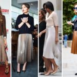 How to wear pleated skirts