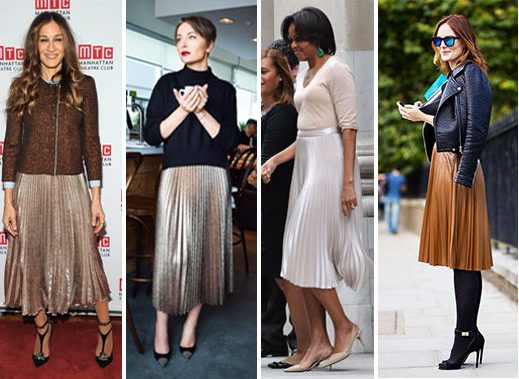 wear pleated skirts
