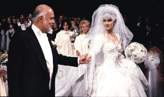 Celine Dion and Rene Angelil wedding
