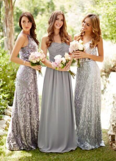 different color bridesmaids dress